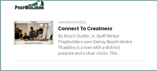 PrepBuilders: Connect to Greatness